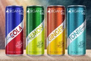 Red-Bull-Energy-Drink-ORGANICS-4x250ml-COLA-GINGER-LEMON-TONIC-STRONG-NATURAL