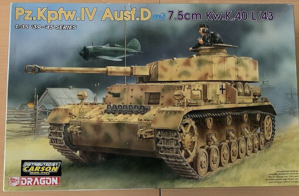 1 35 PzKpfw.IV Ausf. D D D  7,5 cm Kw.K 40 L 43 Dragon 6330  | Meistverkaufte weltweit  5b8422