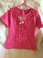 Mim-Pi Pink Frilly T Shirt Size  110