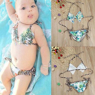 Toddler Kids Baby Tankini Bikini Set Swimwear Swimsuit Bathing Beachwear Outfits