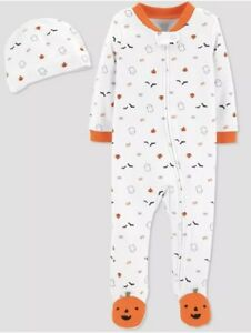 NWT CARTER'S BABY BOY  FOOTED  1pc PAJAMAS SIZE NEWBORN