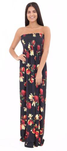 Womens Strapless Maxi Dress Ladies Sheering Boob tube Bandeau Long Lot Size 8-26
