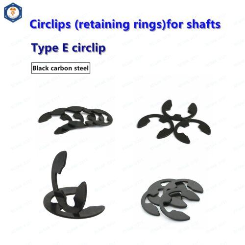 Φ1.2mm to Φ12mm Carbon steel E-Rings Retaining rings for shafts,Circlips Snap