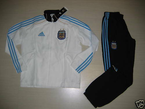 0337 ADIDAS SIZE 10 YEARS 140 CM ARGENTINA PRESENTATION TRACKSUIT CHILD