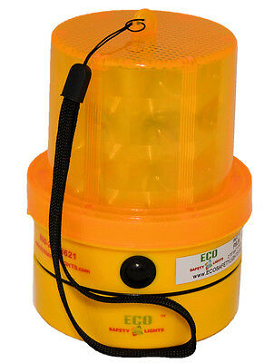 4ea P6LM1 2000hrs RED FLASHING PORTABLE BEACON 6 LED/'s SAFETY LIGHT