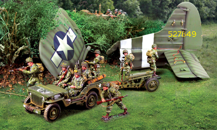 COLLECTORS SHOWCASE AMERICAN NORMANDY 101ST AIRBORNE COMPLETE SET MIB
