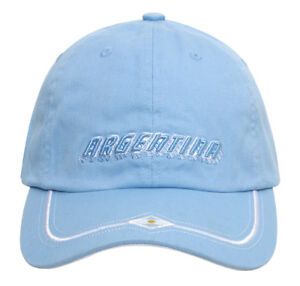 World-Cup-Argentina-Vintage-Adjustable-Buckle-Cap-Baby-Blue-Raised-Text