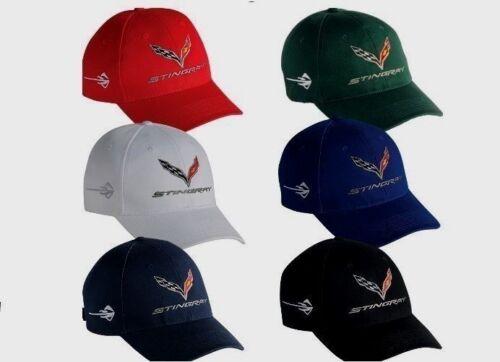 MEN/'S CORVETTE C7 HAT//CAP CHOOSE WHITE,BLUES,RED,GREEN C7 STINGRAY NEW