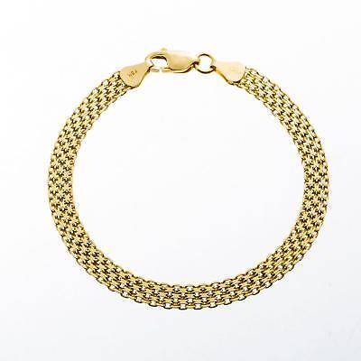 Königsarmband Bismarckarmband  6 mm 925 Silber 999er Gold 24K vergoldet B2693