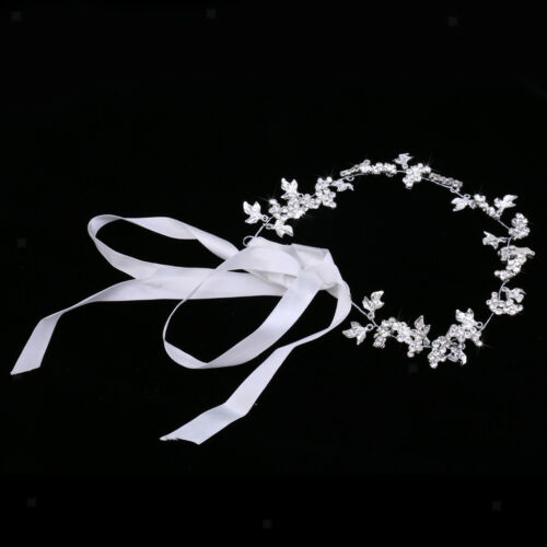 Woman Bridal Rhinestone Leaf Flower Hair Vine Woman Lady Forehead Decoration