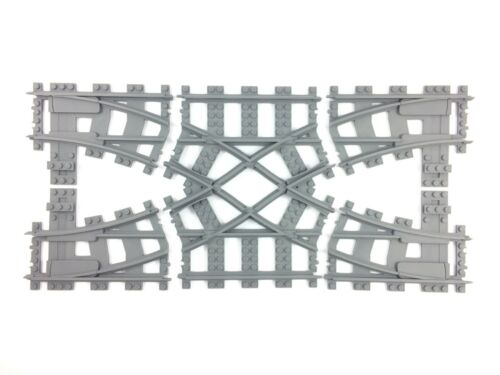 Trixbrix Double Crossover R40, compatible with Lego train