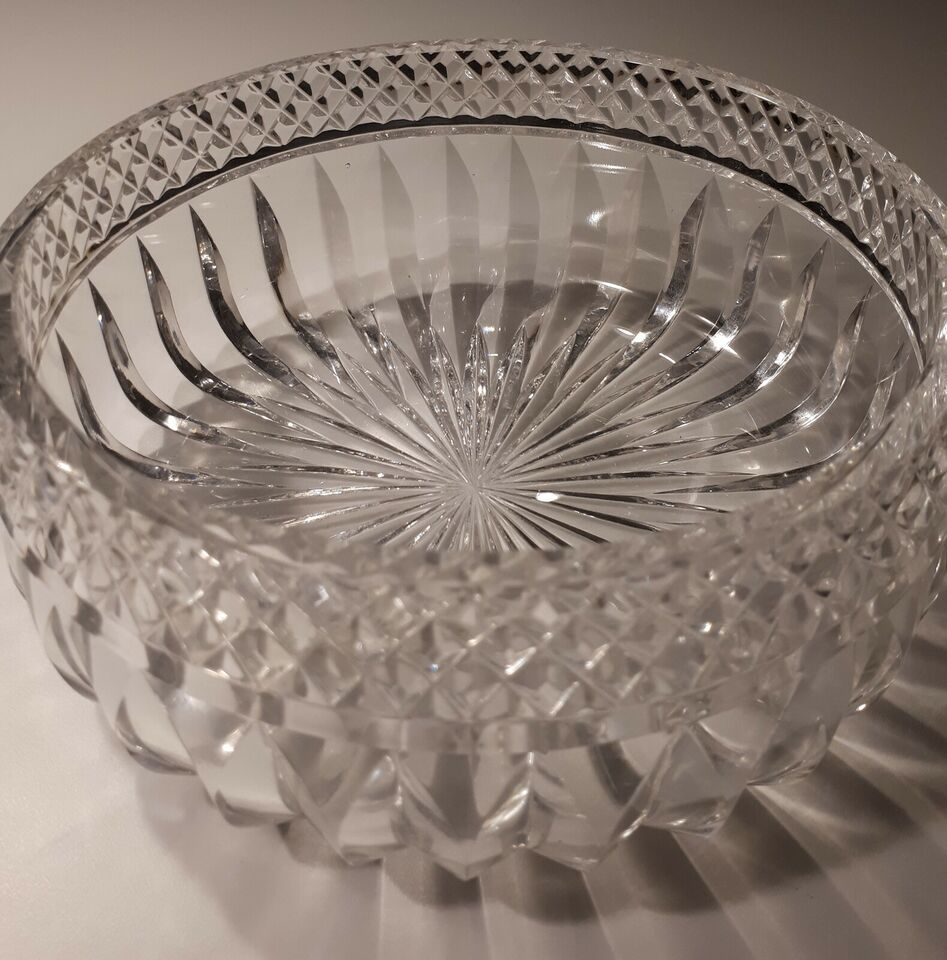 Glas, Elegant Krystal skål