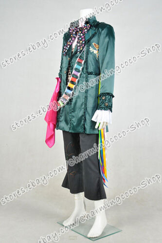 Alice in Wonderland 2 Alice Through the Looking Glass Cosplay Mad Hatter Uniform