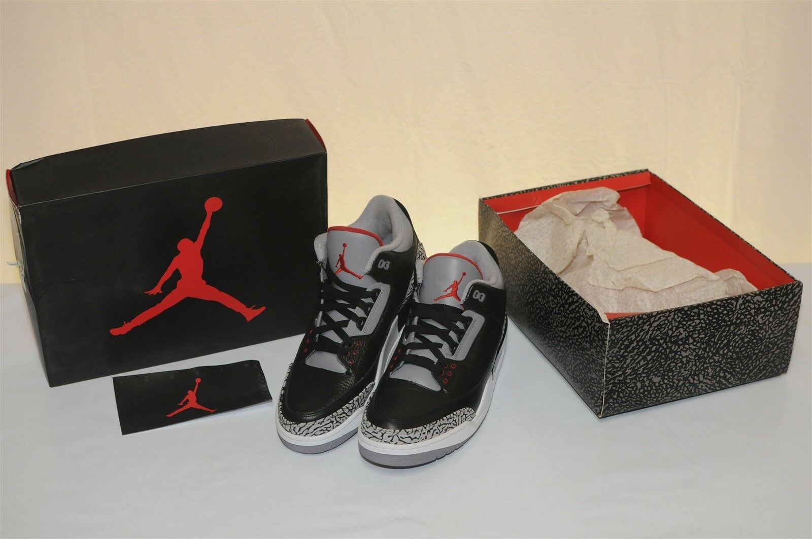 Nike Air Jordan retro 3 Men's Athletic shoes collectors shoes vintage real 12
