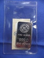 Lingotto in argento 999 %° da 1 oncia