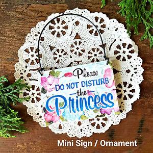 DO-NOT-DISTURB-PRINCESS-Wood-Ornament-Door-Knob-Hanger-Home-Office-Mini-Sign-USA