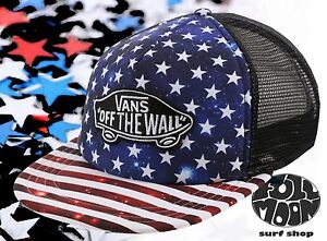 bb9ed26c1b New Vans Classic Patch American Flag Trucker Plus Snapback Cap Hat ...