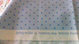 039-Spring-A-Ling-039-by-American-Jane-fabrics-for-Moda-Light-Blue-spot-Fat-Quarter