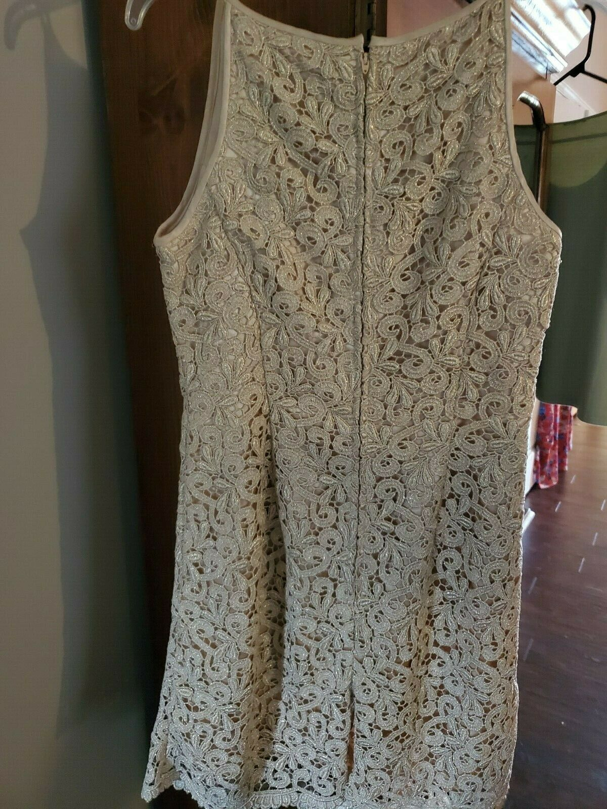 jessica mcclintock Dress Womens Size 8 Gold with … - image 11