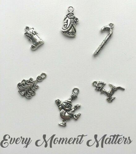 30 x Tibetan Silver CHRISTMAS MIXED CHARMS  Charm Pendant Beads