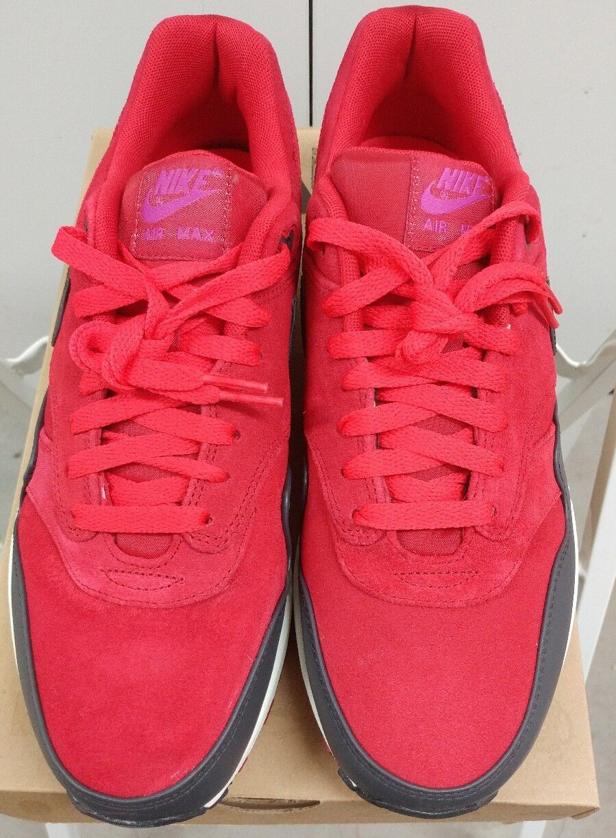 NIKE AIR MAX 512033-606 1 PRM GYM RED ANTHRACITE SAIL 512033-606 MAX SIZE 10***** c49754