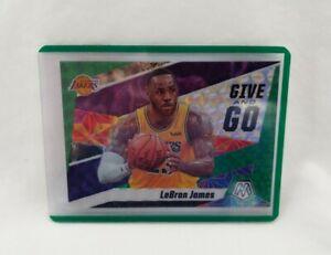 2019-20-Panini-Mosaic-Lebron-James-Give-and-Go-Green-Prizm-Lakers-NBA-Basketball