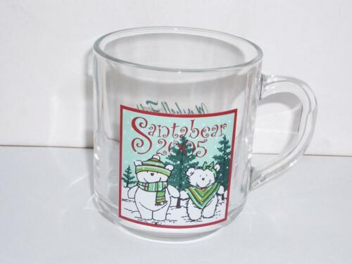 2005 Marshall Field/'s  SANTA BEAR  Glass Mug Unused!