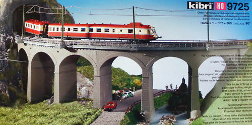 Kibri H0 H0 H0 9725 Riedberg Viadukt mit Pfeilern NEU-OVP a81274