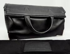 Alexander Wang Prisma black Leather Fold Over Clutch Bag