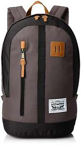 Levi-039-s-Mad-City-Backpack-Tower-Grey-Black-9A6762-G28-Book-Laptop-School-Bag