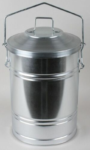 Mülleimer Mülltonne Biotonne 33 cm Abfalleimer mit Deckel und Griff Metall