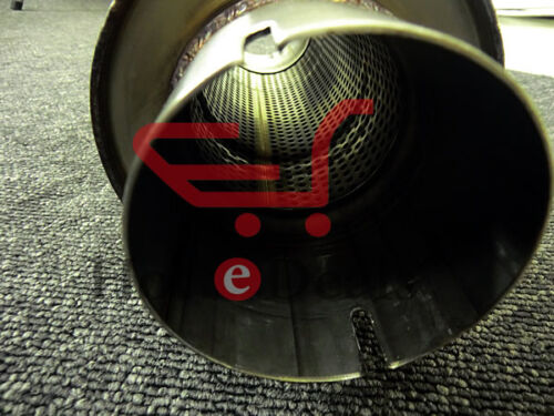 """Clamp-on Stainless Exhaust Silencer 6/"""" Body 22/"""" length 57mm I.D Tig Welded 2.25/"""""""