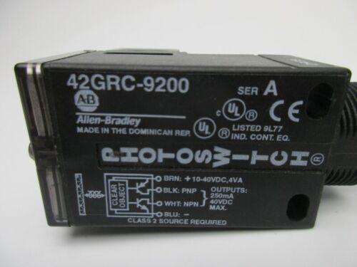 A Sensor Photo 10-30Vdc NEW IN BAG 42GRC-9200 SER Clear Object Detection