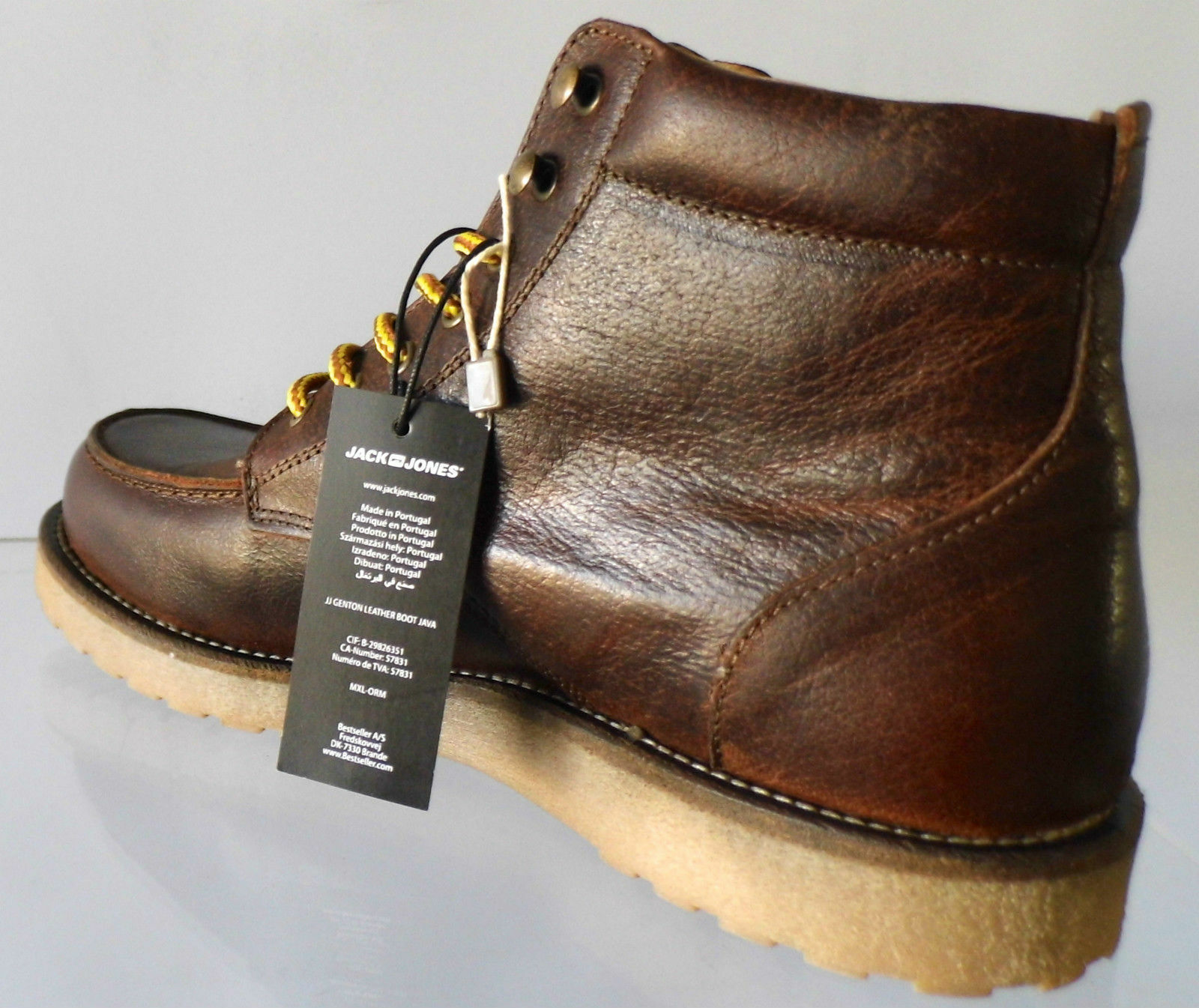 NIB    198 JACK & JONES GENTON  HANDMADE IN PORTUGAL JAVA ANKLE stivali. SZ 43 10 M 5a8e66