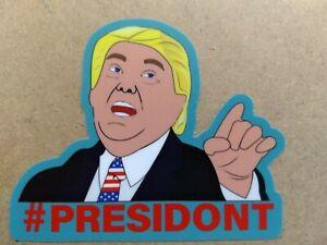 Trump-PRESIDONT-die-cut-anti-trump-stop-impeach-bumper-resist-pro-dnc-3x2-5