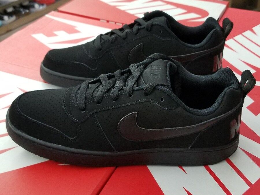 NIKE COURT BOROUGH LOW MEN'S BLACK/BLACK-BLACK 838937 001 The most popular shoes for men and women