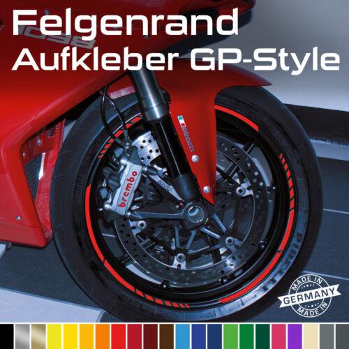 GP Design Felgenrandaufkleber Felgenaufkleber Auto Motorrad Braun Beige Grau