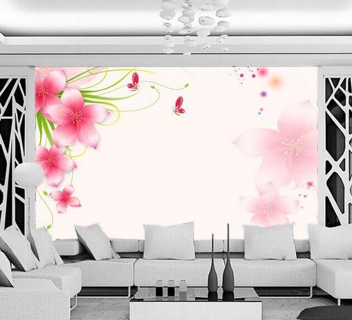 3D farfalla rossa 33 Parete Murale Carta da parati immagine sfondo muro stampa