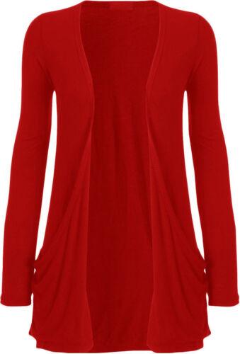 Women Boyfriend Cardigan Long Sleeve Ladies Open Front Slouch Pocket Coat Jacket