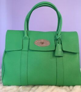 03f425eb3b Image is loading Mulberry-Bayswater-textured-leather-tote-Green