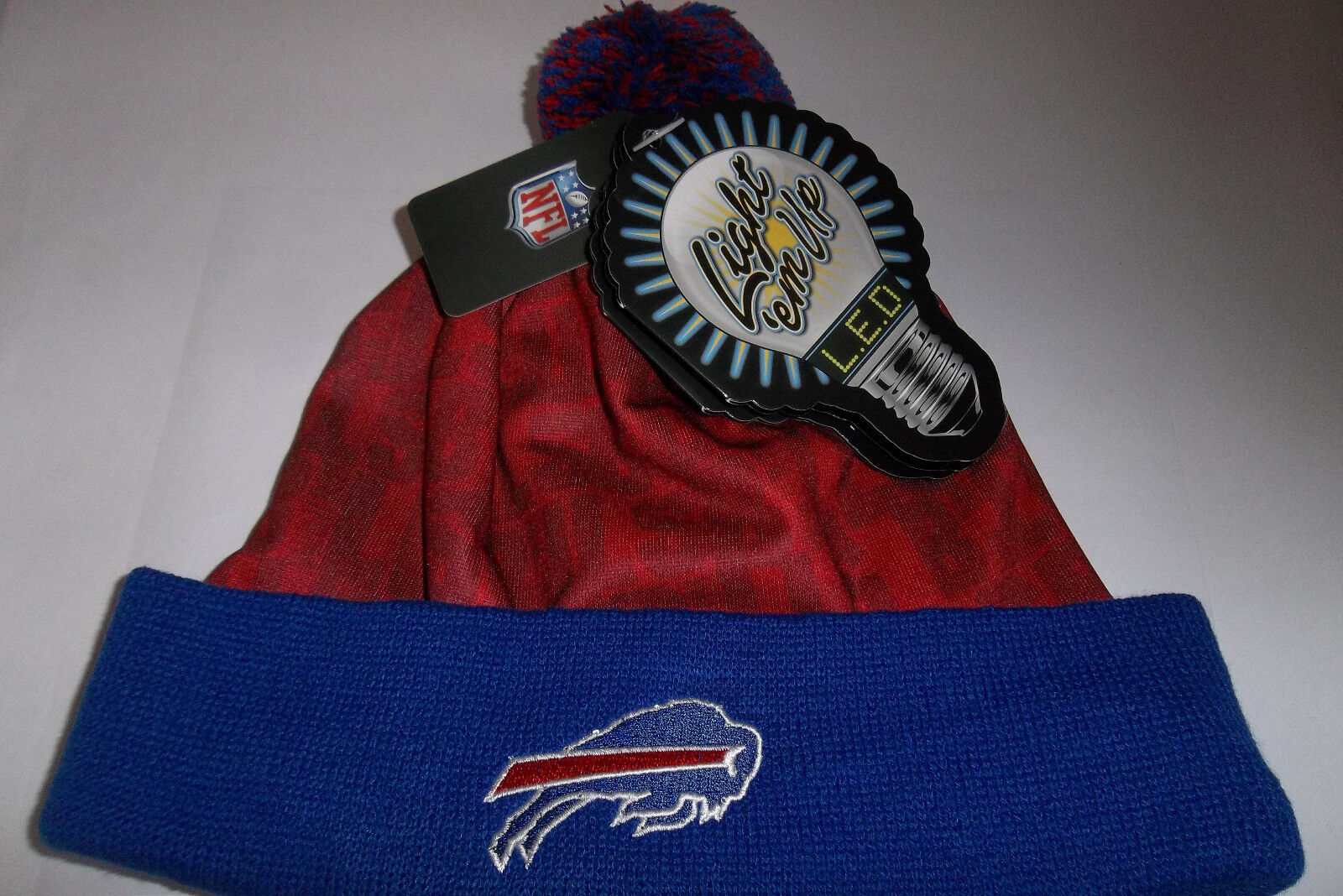 Buffalo Bills NFL Camouflage LED Light up Beanies Winter Hat  e51086a62f0