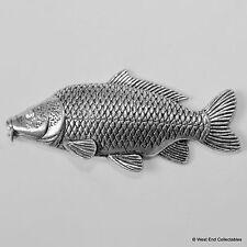 Karpfen Fisch Zinn Brosche - Britisch- Handarbeit Gängig Coarse Fishing Angeln