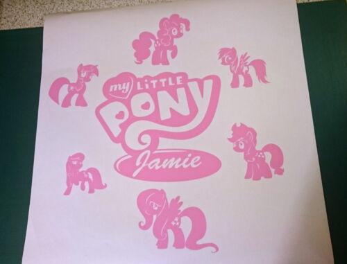 Fille personnalisé nom de mon petit poney Déco Chambre Autocollant Mural Vinyl Decal