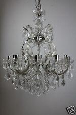 Moderner Maria Theresa Kristall Kronleuchter 10 flammig Glas Messing Design