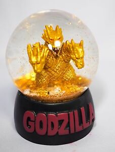 GODZILLA KING GHIDORAH SNOW GLOBE Toho Cinemas Japan KAIJU 2016 NEW Gold Flake