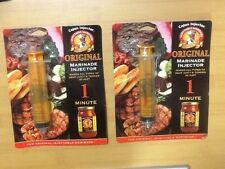 Lot of Two Cajun Original Marinade Injectors for Meat, Chicken, Pork,Melon,Fruit