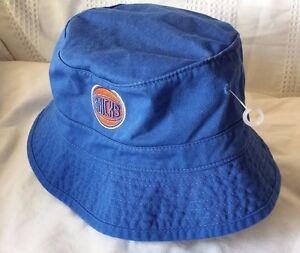 09783a614e9 NY KNICKS Mitchell   Ness mens L XL bucket hat (100% COTTON) RARE ...