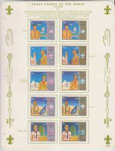 A2955 : Sharjah 1971 Scout Ensemble + Feuilles