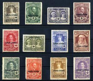 Sellos-1926-Pro-Cruz-Roja-Espanola-Sahara-n-13-24-nuevos-colonias-stamps