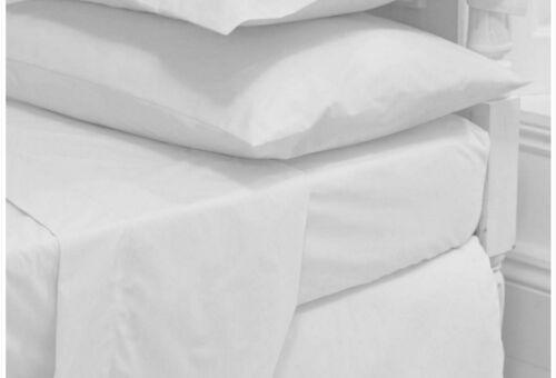 Single Double King Size Super Kingsize Flat Bed Sheet Rich Egyptian Cotton Linen